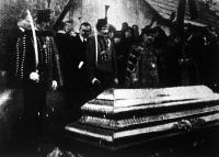 Nagyatádi Szabó István temetése - a koporsó