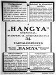 """A """"Hangya"""" hirdetése 1924 májusában"""