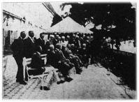 Csonkamagyarország főispánjai a miniszterelnöki palota erkélyén tartott értekezleten