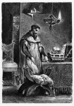 Delacroix Faustja. A szerző Goethe Faustjára hivatkozik