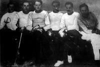 A verseny döntőjének résztvevői - Heltay, Dr. Barta, Skaliczky, Dr. Pál, Dr. Szűcs, Tánczos