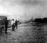 Lumniczer Sándor, dr. Halassy Gyula, Szőke Vince lövészet közben
