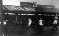 A mérkőzés negyedik gólját Molnár szerezte (Molnár, Braun és Jancsár a képen)
