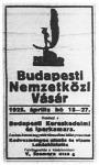 A Budapesti Nemzetközi Vásár hirdetése