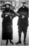 Bethlen István és felesége a  jégpályán