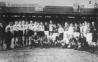 Magyarország és Svájc válogatott csapatai a mérkőzés előtt
