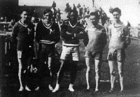 Az MTK és FTC versenyén részt vett francia atléták Jousse, Norland, Cator, Baraton, Gander