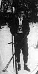 Déván István a jánoshegyi síversenyen