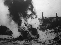 Petróleum-katasztrófa, tűzvész a petróleum-földeken
