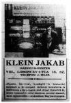 Klein Jakab bádogos a szakma kiválósága (hirdetés)
