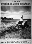 Traktor hirdetése