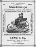 Benz Patent-Motorwagen - korabeli hirdetés