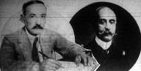 Balra Pangalos diktátor, akit Kondylis tábonok letartóztatott, jobbra Konduriotis, a régi-uj kööztársasági elnök