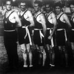 A győztes FTC boxolók Untenecker, Csenkey, Sparring, Endre, Kulcsár, Marosi II., Széles, Kocsis