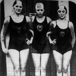 A MUE hölgycsapata (Bencze Irén, Szőke Kató és Kraszner Vilma) a 3x100 méteres vegyes staféta hölgybajnokságban