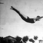 Dénes Irén, a műugrás győztese