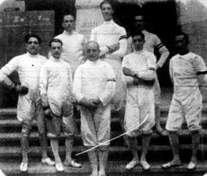 Az olasz tőrvívók csoportja