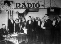 A budapesti rádióleadó állomás stúdiója