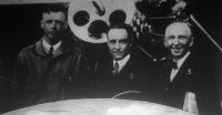 Lindberg, Byrd, Chamberlin a newyorki repülőtéren
