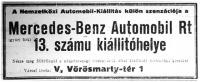 Hirdetés az automobilkiállítás alkalmával (Mercedes)