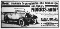 A Morris-autó rossz utakra hirdet