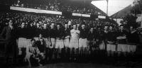 A magyar válogatott csapat, amely 13-1 (6-0) arányban aratott győzelmet a franciák válogatottjai fölött