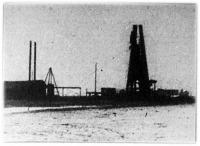 Kép a karcagi földgázforrásról.