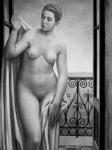 Ubaldo Oppi:  Akt az ablak előtt