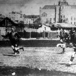 Jelenet a Magyar Hockey Club és a drezdai Blau-Weiss Hockey Club mérkőzéséről