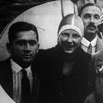 A folyambajnokság női győztese (középen) a bécsi Fleischer kisasszony