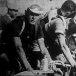 Az országúti amatőrvilágbajnokság résztvevői, köztük Vida László (x) a magyar résztvevő