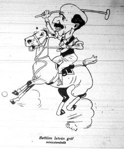 Karikatúra Bethlen Istvánról