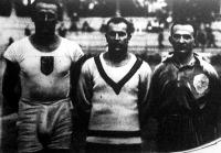 Az MTK atlétikai viadalának hősei Darányi József, Barsi László és Gerő Ferenc