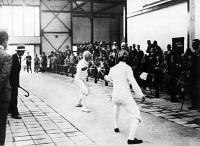 Terstyánszky (jobbra) és Petschauer döntő mérkőzése