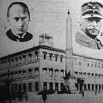 A lateráni palota Rómában, Mussolini, Viktor Emanuel olasz király és Gaspari bíbornok
