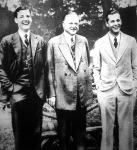 Hoover, az USA elnöke két fiával