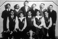 A világbajnokság győztese a magyar csapat a Swaythling-serleggel