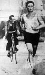Zelenka József (Salgótarján) a maratoni futás győztese