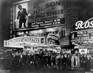 A Jazz Singer megnyitóján