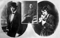 A kép baloldalán látható Léderer Gusztáv, középen Kodelka Ferenc, a feldarabolt  hentesmester, jobb szélen pedig Léderer Gusztávné, Shwartz Mici