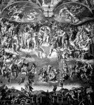 Michelangelo híres  freskója a Sixtus-kápolna  falán