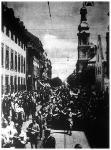 Az utolsó francia csapatok a Marseillaise hangjai mellett vonulnak ki Mainz városából