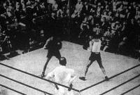 Jelenet a nemzetközi boxmérkőzésről