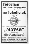 MÁVAG-hirdetés