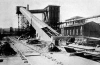 A fővárosi gázgyár szénszállító berendezése (még az építkezés alatt, 1913)