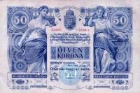 50 koronás magyar nyelvű oldala