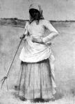 Szénagyűjtő lány (Jantyik Mátyás festménye)