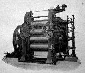 Kalander, gumilemezt hengerelő gép