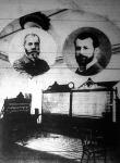 Az első telefonközpont, a fotón Puskás Tivadar, Puskás Ferenc
