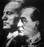 Mussolini és Gömbös találkozója Rómában